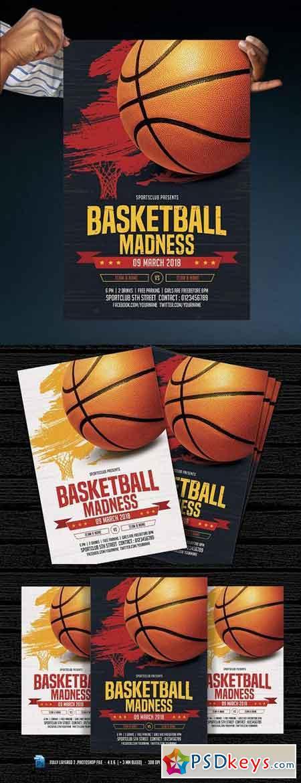 Basketball Madness Flyer 1180407