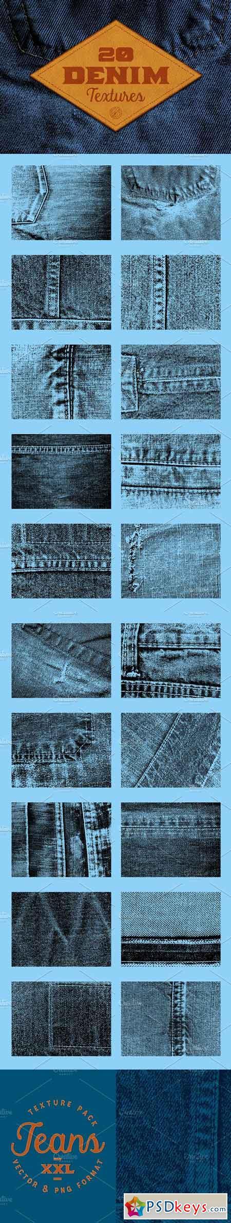 20 Denim Textures 118449