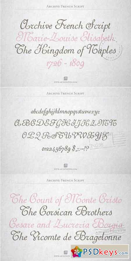 Archive French Script 1180487