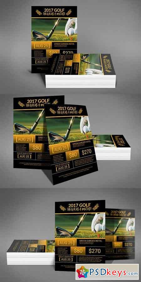 Golf Play Wall Calendar A3 2017 1195976