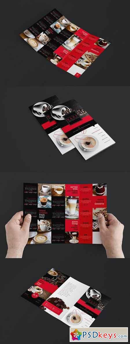 Trifold Cafe Menu Template 946824
