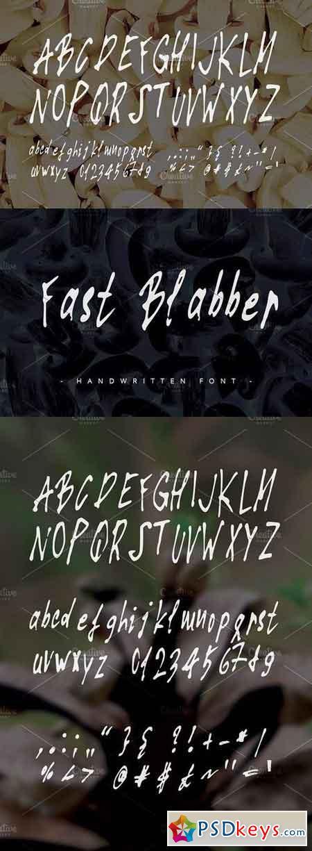 Fast Blabber ~ Handwritten Font ~ 1155343