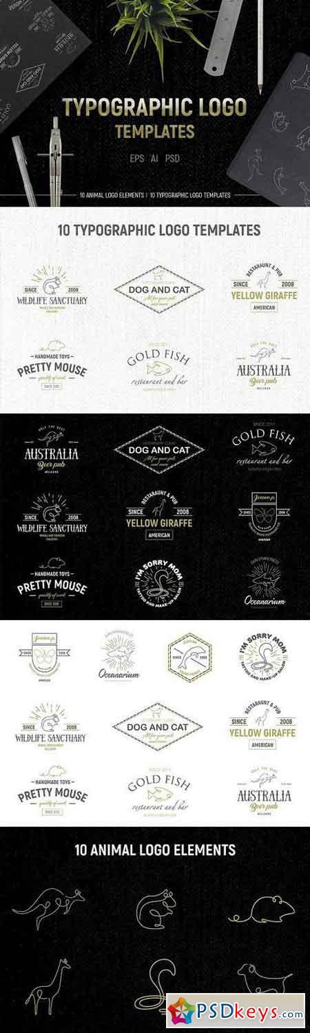Typographic logo templates 1155080