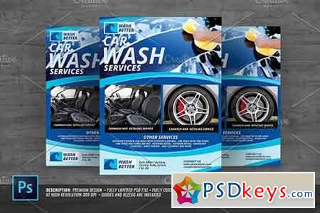 Car Wash Flyer 1382633 Free Download Photoshop Vector Stock Image