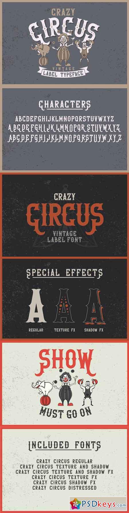 Crazy Circus typeface 1323992