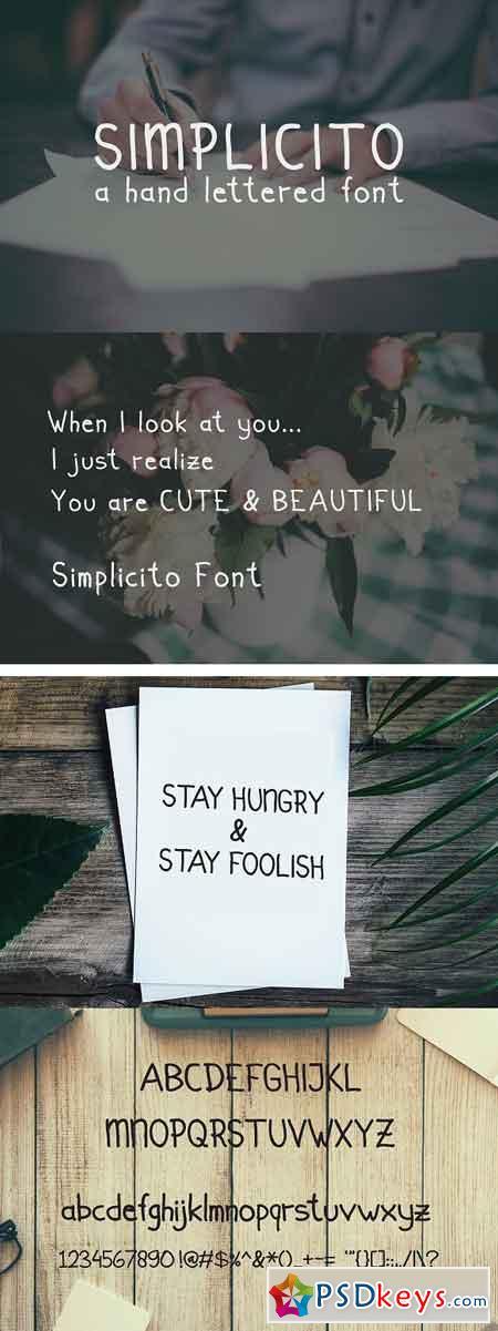 Simplicito Hand Written 1333629