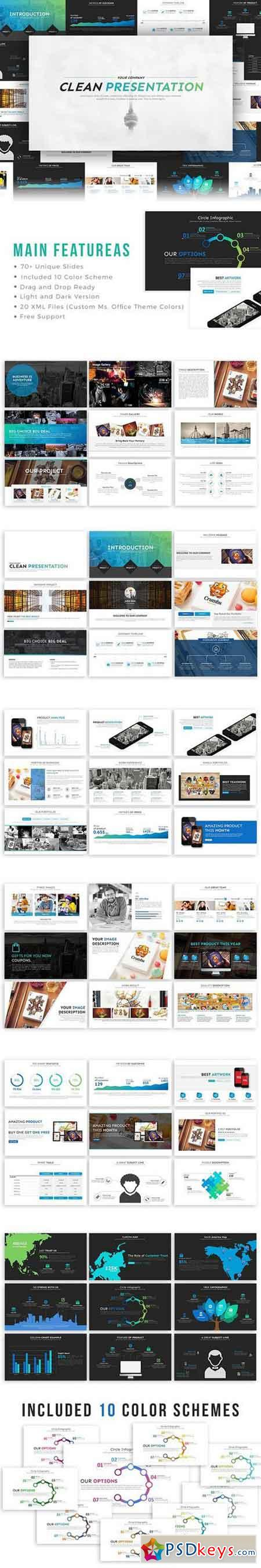 Clean PowerPoint Template 996842