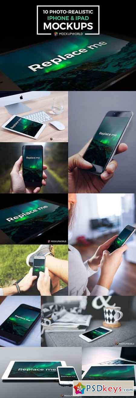 10 iPhone and iPad Mockups 843292