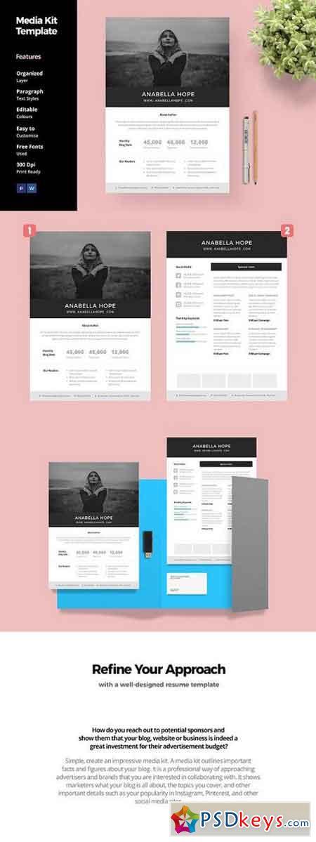 media kit template for blogger 1396703