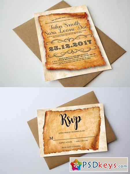 Vintage Wedding Invitation 1248346