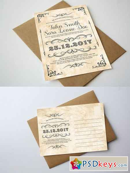 Vintage Wedding Invitation 1248450