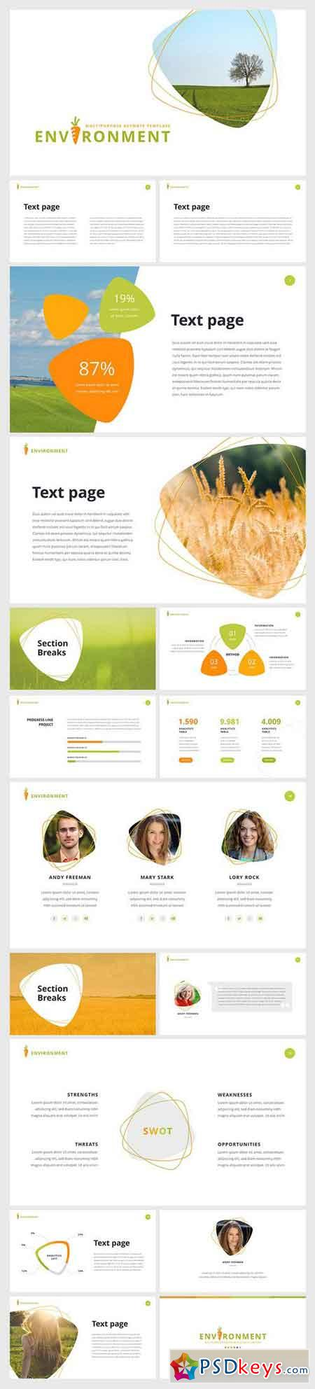 environment powerpoint template 187 free download photoshop