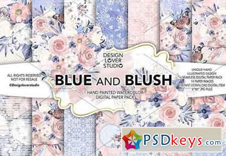 Watercolor BLUE and BLUSH DP pack 1425002
