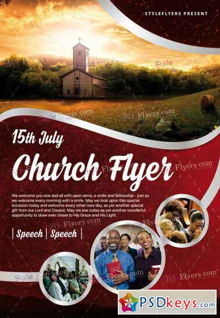 church psd flyer template  u00bb free download photoshop vector