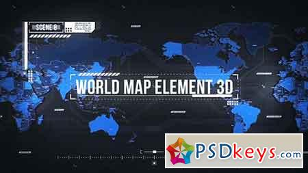 World Map Element 3D 19202652 - After Effects Projects