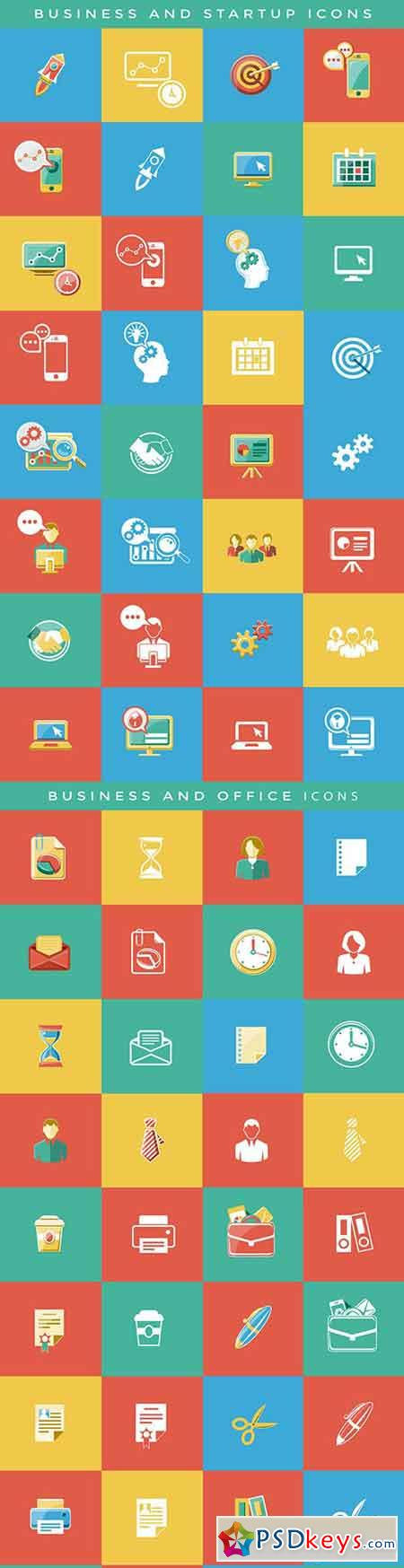 Business & Startup Flat Icons 15992053 - After Effects Projects