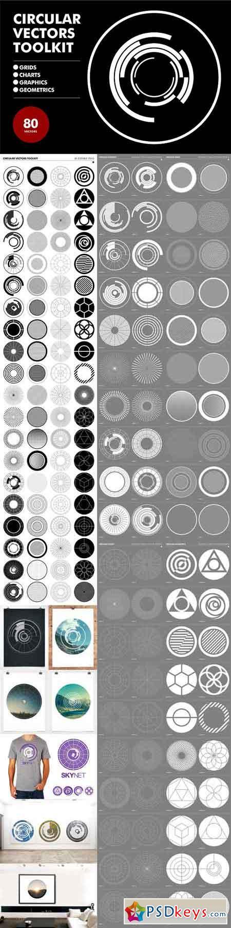 Circular Vectors Toolkit - 80 items 1114731