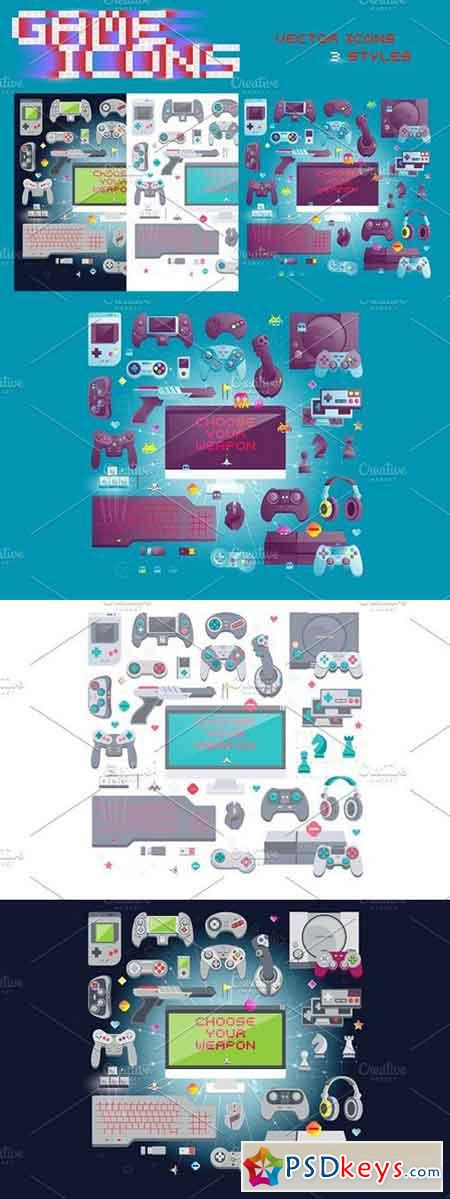 Gaming Icons Concept 133182