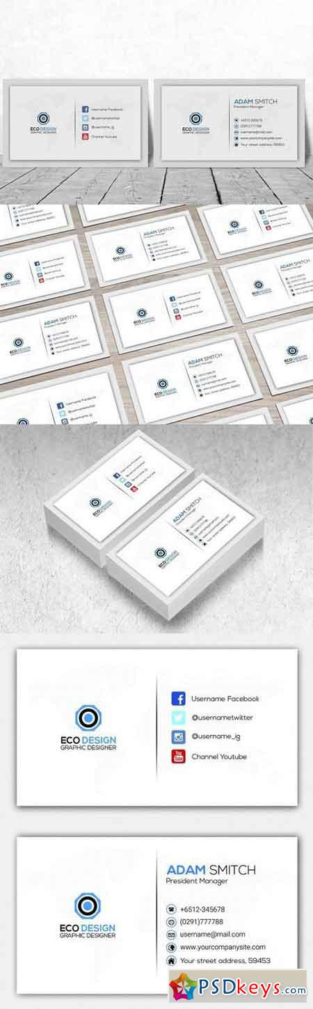 Creative Corporate Business Card 1180669