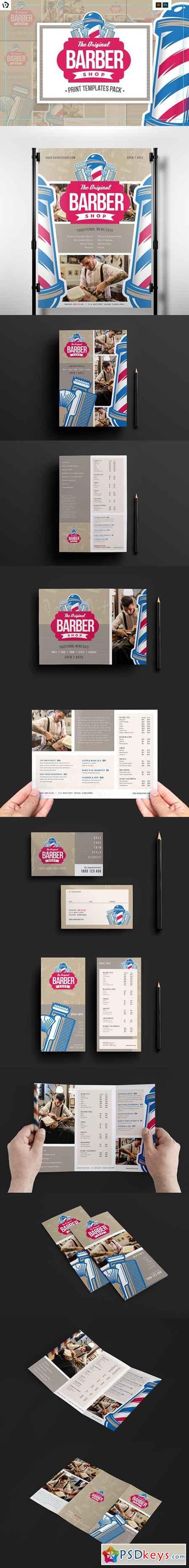barber 39 s shop templates pack 1192193 free download photoshop vector stock image via torrent. Black Bedroom Furniture Sets. Home Design Ideas