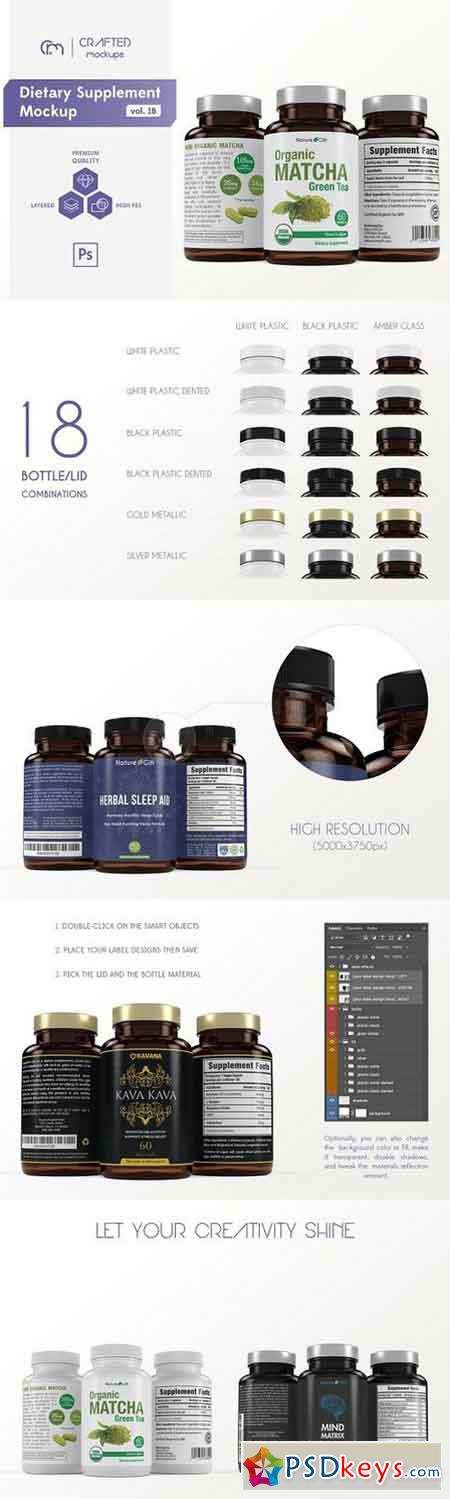 Dietary Supplement Mockup vol. 1B 775486
