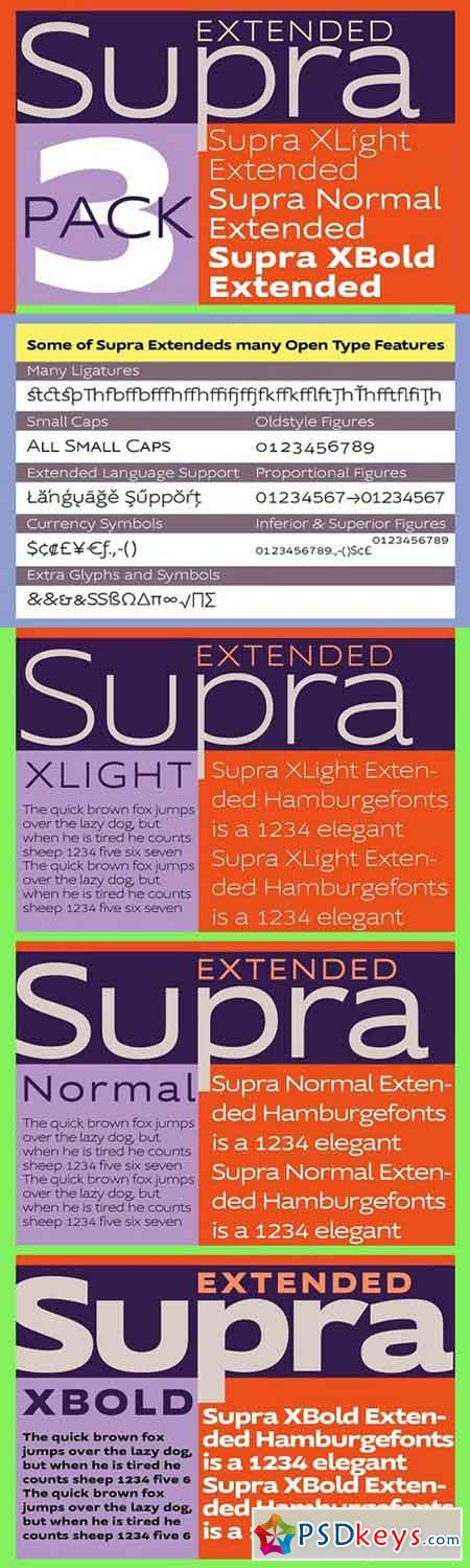 Supra Extended Fonts 1411068