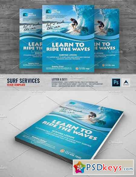 Surfing Lesson Flyer 1406460