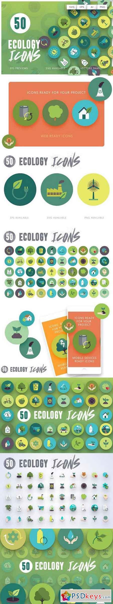 50 Ecology Icons 1383705