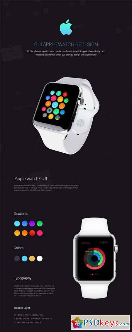 Apple watch GUI 36 Elements
