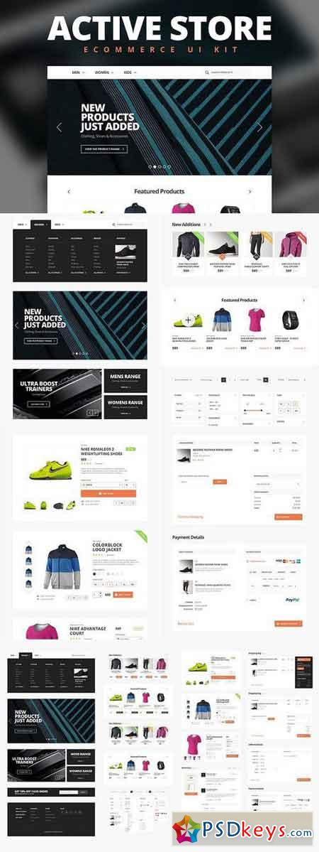 Active Store - Ecommerce UI Kit 211041