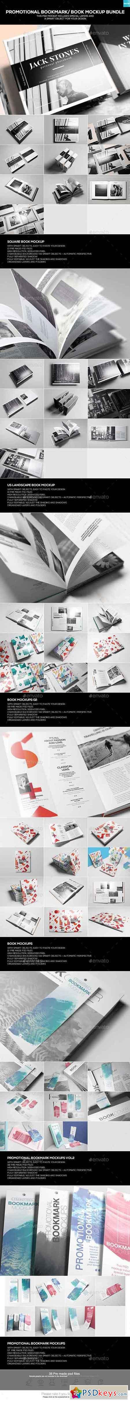 Promotional Bookmark Book Mockup Bundle 19866657