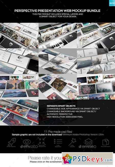 Perspective Presentation Web Mockup Bundle 19437874 » Free Download