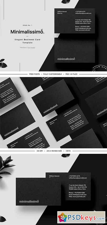 Minimalissimo Business Card Template