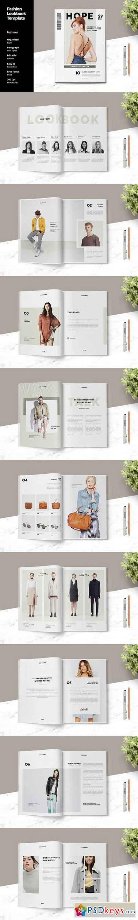 fashion lookbook template 1409304 free download photoshop vector