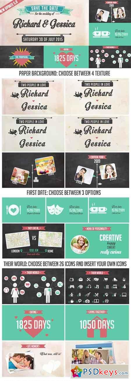 The Story of Us Wedding Invitation V5.0 7203302 - After Effects Projects
