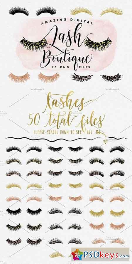 99a296e4bdc Digital Lash Boutique - Eye Lashes 1399101 » Free Download Photoshop ...