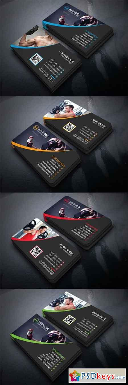 Fitness Business Card 1479767 » Free Download Photoshop Vector ...
