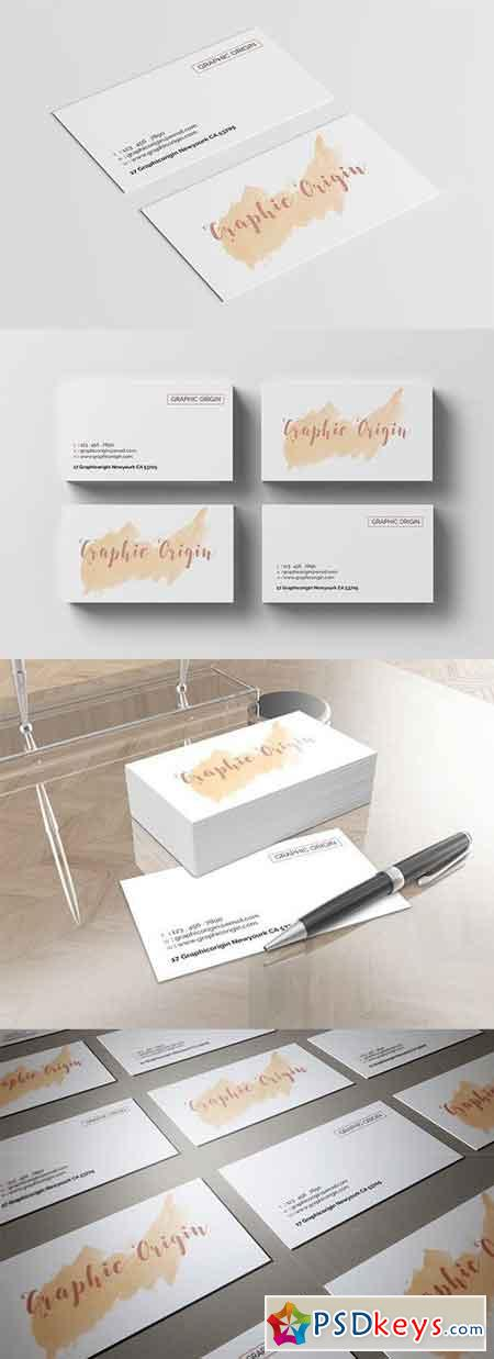 Watercolor Business Card 1478774