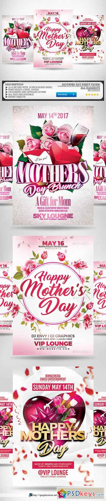 Mothers Day Flyer Bundle 1989589