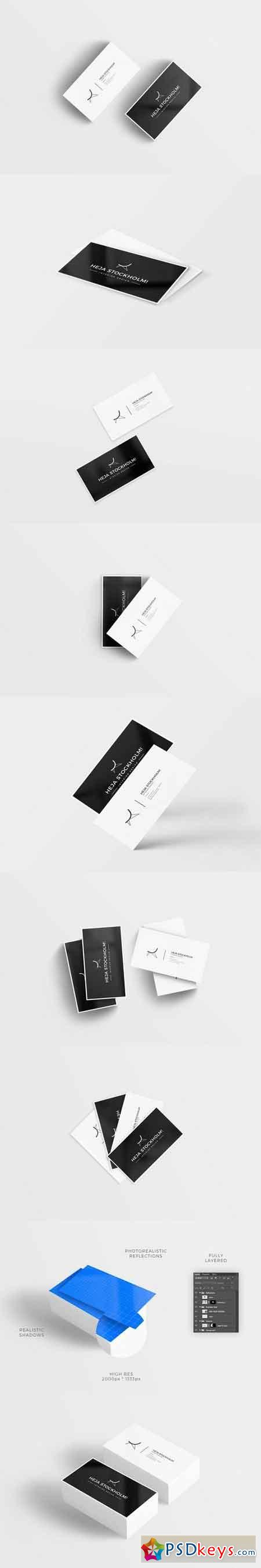 Clean Business Card Mockups
