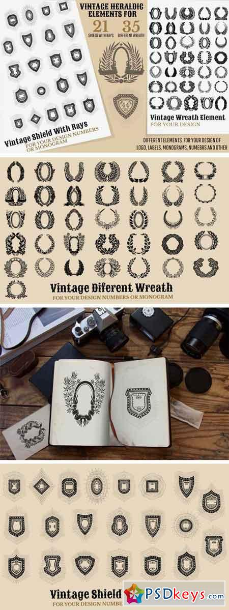Set of Vintage Elements 1434615