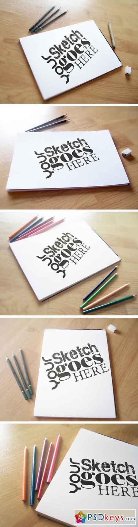 Sketchpad Mockup Pack 1436138 » Free Download Photoshop
