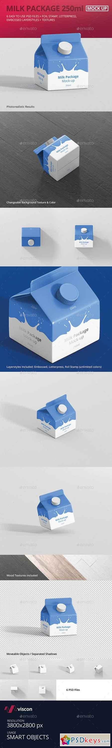 Juice Milk Mockup - 250ml Carton Box 18191218