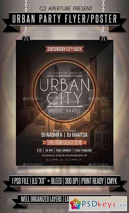 Urban Party Flyer Poster 19956383