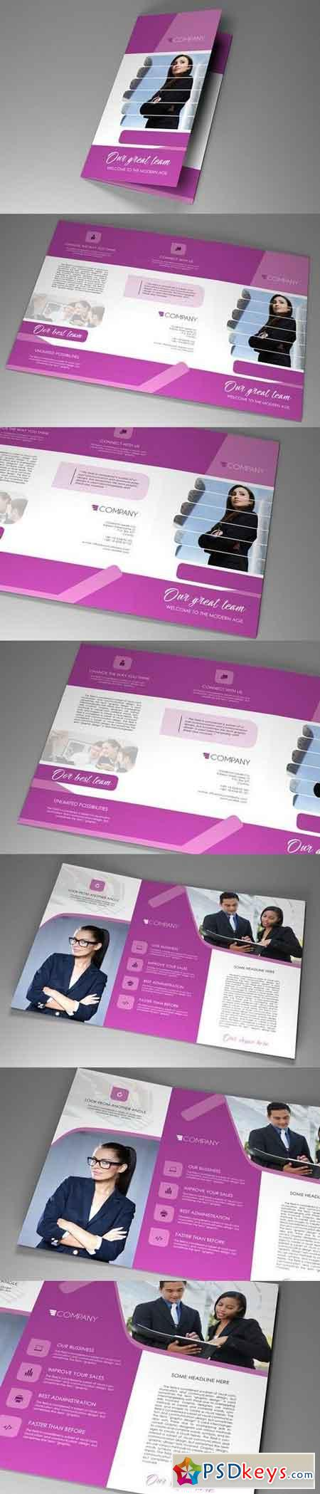 Trifold Indesign Brochure Fancy vol 3 1213276