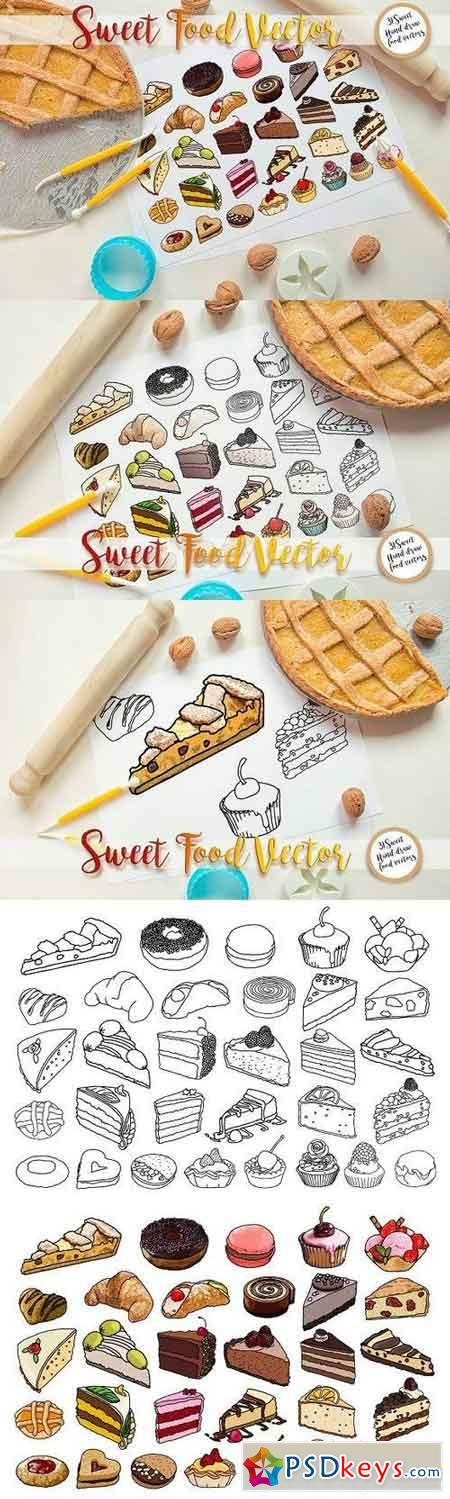 Sweet Food vector 1233927