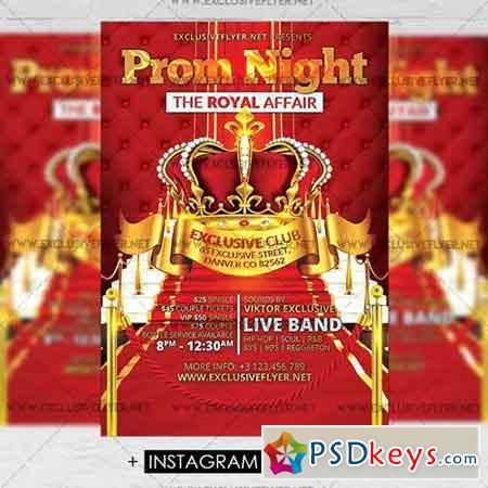 prom night party premium a5 flyer template