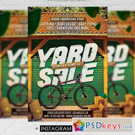 Yard Sale - Premium A5 Flyer Template » Free Download Photoshop