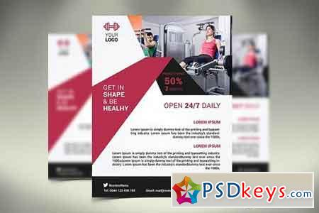 Fitness Flyer Gym Flyer 1423099 » Free Download Photoshop