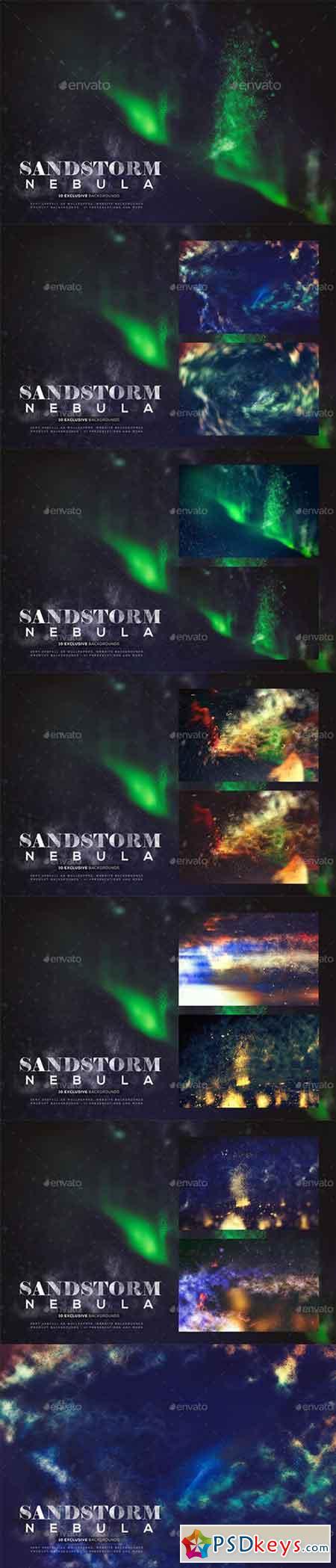 Abstract Sandstorm Nebula Backgrounds 19977223
